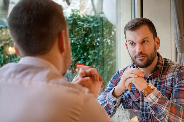 Péterrel egy kellemes tea mellett beszélgettünk - Fotó: Veréb Barbara