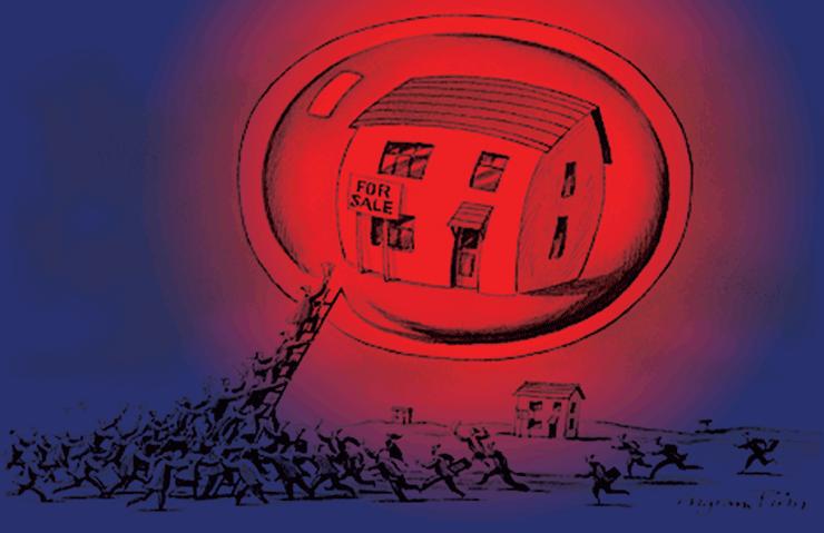 Az a bizonyos ingatlanpiaci lufi - Illusztráció: Ingramm Pinn