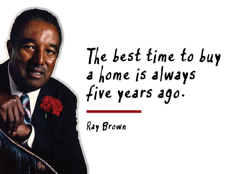 Ray Brown már akkor is tudta, hogy mi jár sokunk fejében!